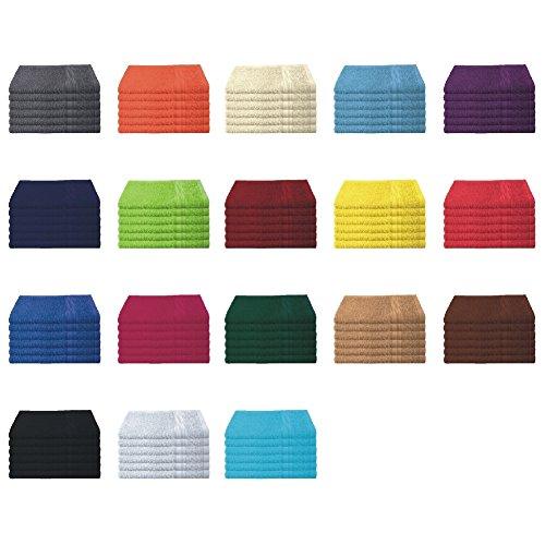 6er Pack / 12er Pack - Gästetücher Set - 6 Gästetücher 30x50 cm - Farbe Lila
