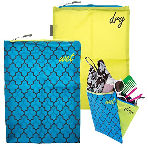 4pc-Travelon-Wet-Dry-Bags-Set-Water-Resistant-For-Baby-Travel-Beach-Bikini-Diapers-Gym