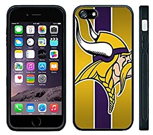 Case For Iphone 6 Plus (5.5 Inch) Cover Black Hard Silicone CaMinnesota Vikings Football