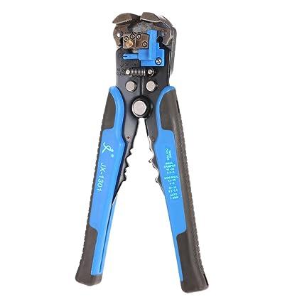 KKmoon Multifuncional Pelador de Cable Automático Ajustable Herramienta de engaste Peladura Pinzas (Azul)