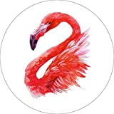 Flamingo Home Wall Shelf Decor Animal Decorations Watercolor Round Sign - 12 Inch, Plastic