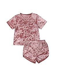 datework Toddler Baby Kids Girls Boys Solid Sport Casual Clothes Outfits Set
