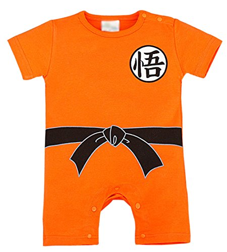 Wind Girl Baby Boys' Dragon Ball Z Goku Son Short Sleeve Romper Costume