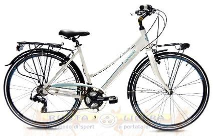 "City Bike 28"" Lombardo Taranto 400 Mujer White SkyBlue Mis."