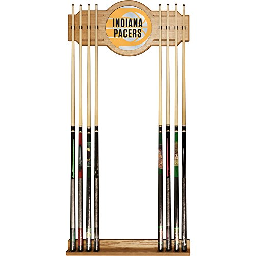 Trademark Gameroom NBA6000-IP2 NBA Cue Rack with Mirror - Fade - Indiana Pacers by Trademark Global
