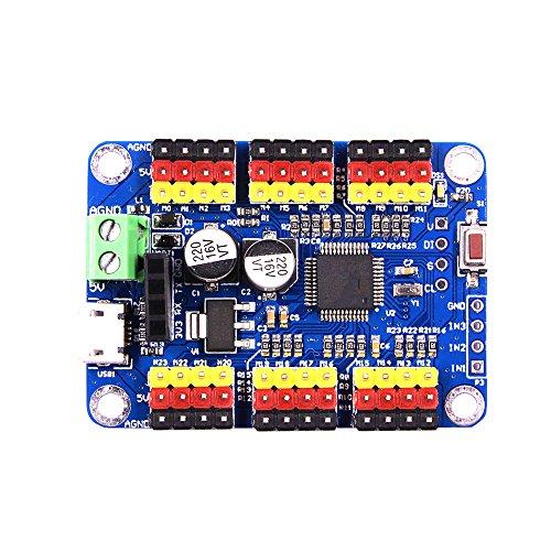 24-way steering gear control panel controller USB serial port TTL Bluetooth wireless host computer APP
