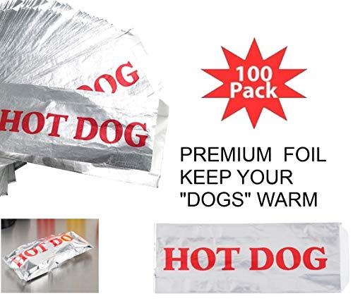 Foil HotDog Sleeves Too Keep Your