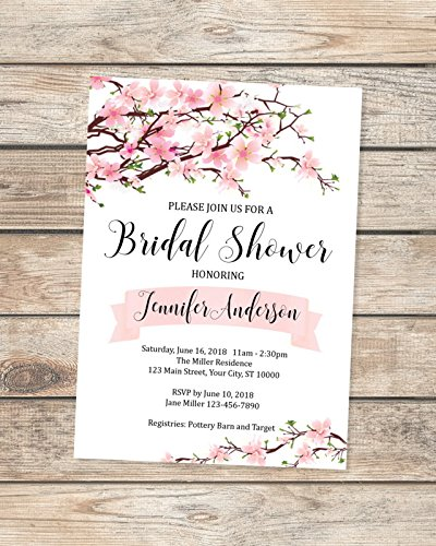 amazon com cherry blossoms bridal shower invitations pink cherry