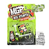 Madd Gear MGP Big Stunts Mini Finger Scooter - Finger Whip Toy - White by Madd Gear