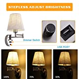 Bedside Wall Mount Light with Dimmable Switch and