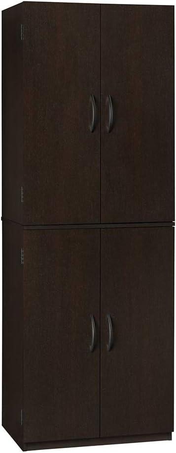 Amazon Com Thaweesuk Shop New Espresso Kitchen Pantry Storage Cabinet Tall Wooden Laundry Shelves Closet Cupboard Organizer Furniture Wood 21 31 L X 15 44 W X 59 88 H Kitchen Dining