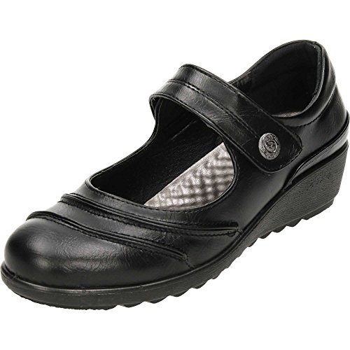 Jane Walk Cushioned Cushion Mary Black Comfort Flexible Shoes q8AXBw