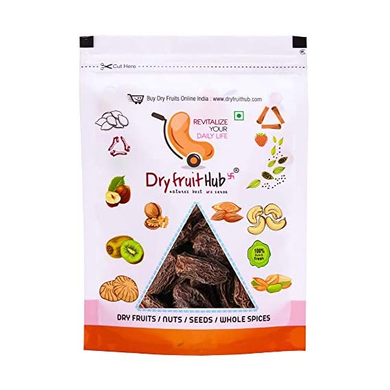 Dry Fruit Hub Dates Khajoor Black 800gms Sukha Khajoor, Khajur Dry Fruits