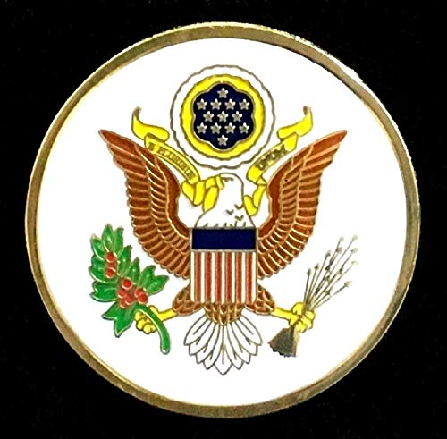 The Great Seal of The United States Lapel Pin - Round 1 1/8