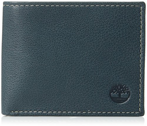 Timberland Men's Leather Wallet with Attached Flip Pocket, Navy (Blix), One Size