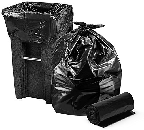 Trash Bags 95-96 Gallon, Large Heavy Duty Garbage Bags, 2 Mil, 25/Coreless Roll, 61