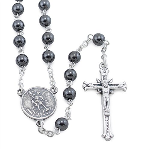 St. Michael Rosary with Hematite Beads (Rosary Michael St)