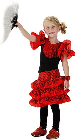 Folat 21828 español Flamenco de la niños Disfraz (tamaño 116 – 134 ...