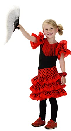 Folat 21828 Spanish Childrenu0027s Flamenco Costume (Size 116 - 134 Medium) Amazon.co.uk Toys u0026 Games  sc 1 st  Amazon UK & Folat 21828 Spanish Childrenu0027s Flamenco Costume (Size 116 - 134 ...
