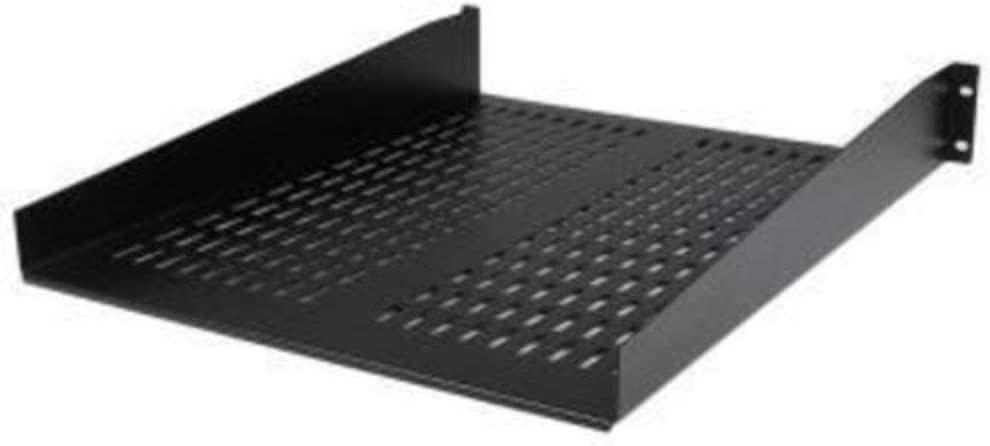 """StarTech.com 2U Vented Server Rack Mount Shelf - 22in Deep Cantilever Universal Tray for 19"""" AV, Data & Network Equipment Rack - 50lbs (CABSHELF22V)"""