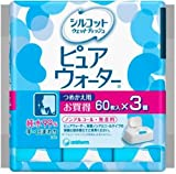 Sill cot wet tissue Pure Water Refill 60 pieces 3 pack by Uni-Charm
