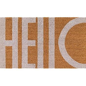 Novogratz Aloha Collection Hello Doormat, White, 1'6