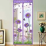 GONGFF Magnetic Screen Door/Silent Mosquito Net/Magnetic Closure/Sticky Mesh Breathable Screen Door,#2,100230Cm