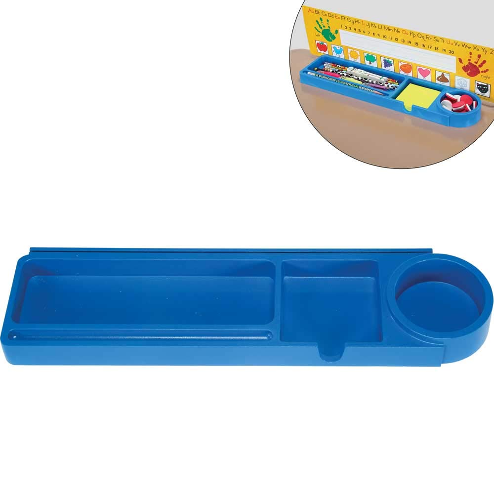 Really Good Stuff Desktop Prop & Park Student Desk Tray Organizer with Adhesive Grip – Set of 6