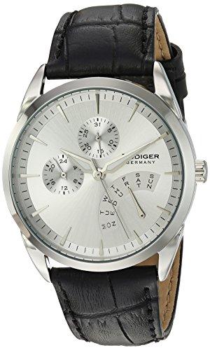 Rudiger Men's R3200-04-001.7 Hamelin Analog Display Quartz Black Watch