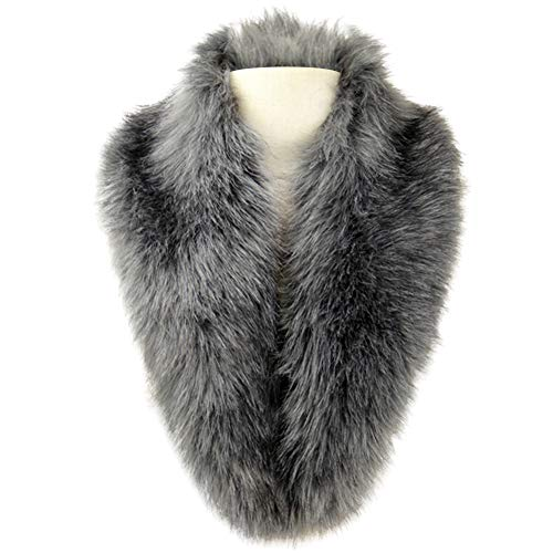 The Great Gatsby Costumes Ideas (Dikoaina Extra Large Women's Faux Fur Collar for Winter)