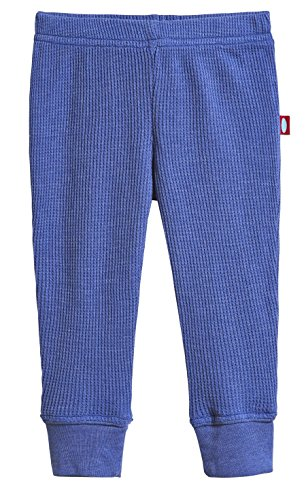 City Threads Baby Boys and Baby Girls Soft Cotton Thermal Cuffed Baby Newborn Infants Pants Joggers for Sensitive Skin or SPD Sensory Friendly Clothing, Denim Blue, 0/3 m