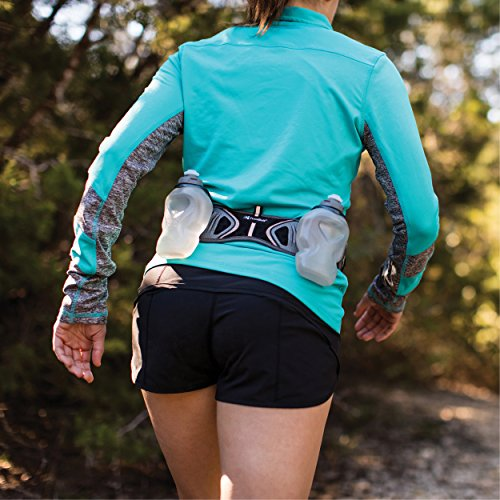 FuelBelt Helium UltraLight Hydration Running Belt with Storage and Two BPA Free Water Bottles, 20 Ounce Total Capacity