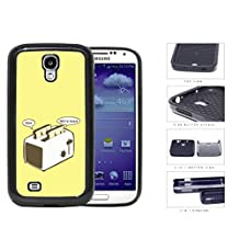 Funny We Are Toast Toaster Cartoon w/ Yellow Background Samsung Galaxy S4 I9500 2-piece Dual Layer High Impact Black Silicone Cover