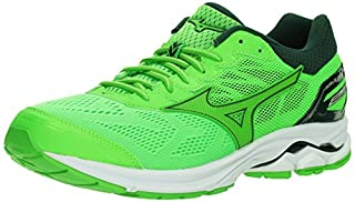 67e45039b3d86 Mizuno Wave Rider 21 Men's Running Shoes Slime-Green Gecko, 11.5 D ...