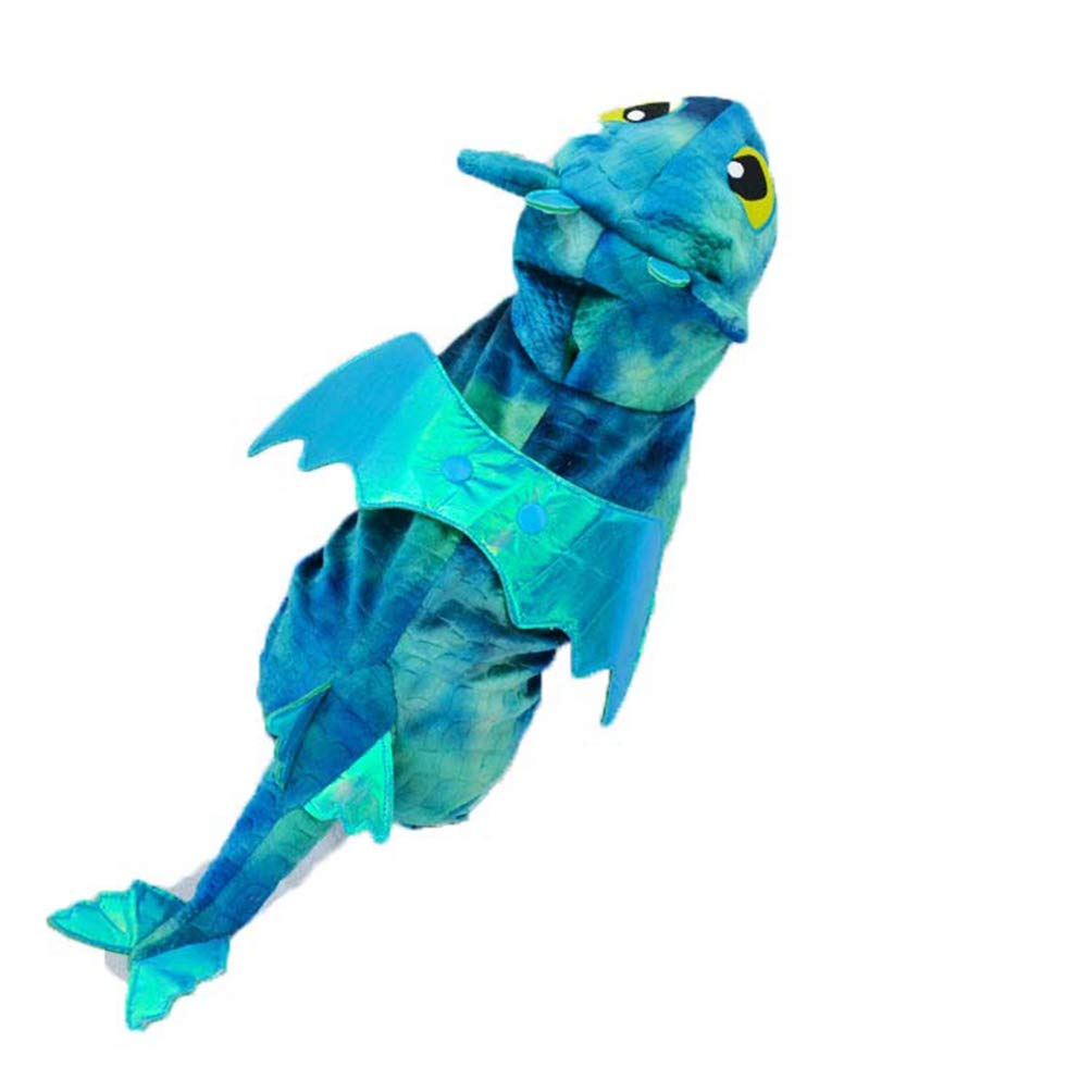 bluee 2 bluee 2 Dog Clothes Cotton Padded Coat Jacket Halloween Fly Dragon Dinosaur Pet Cat Dog Fleece Jumpsuit Hoodie