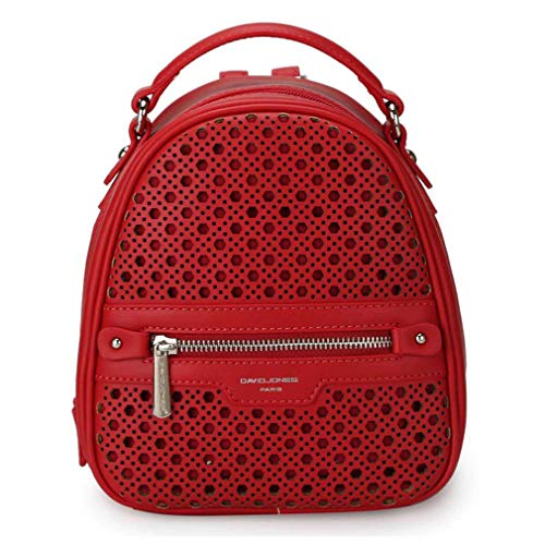Women Red Backpacks Bag Bags Faux Leather Out Hollow School Shoulder Lady Female Girl 4ZUqwr74