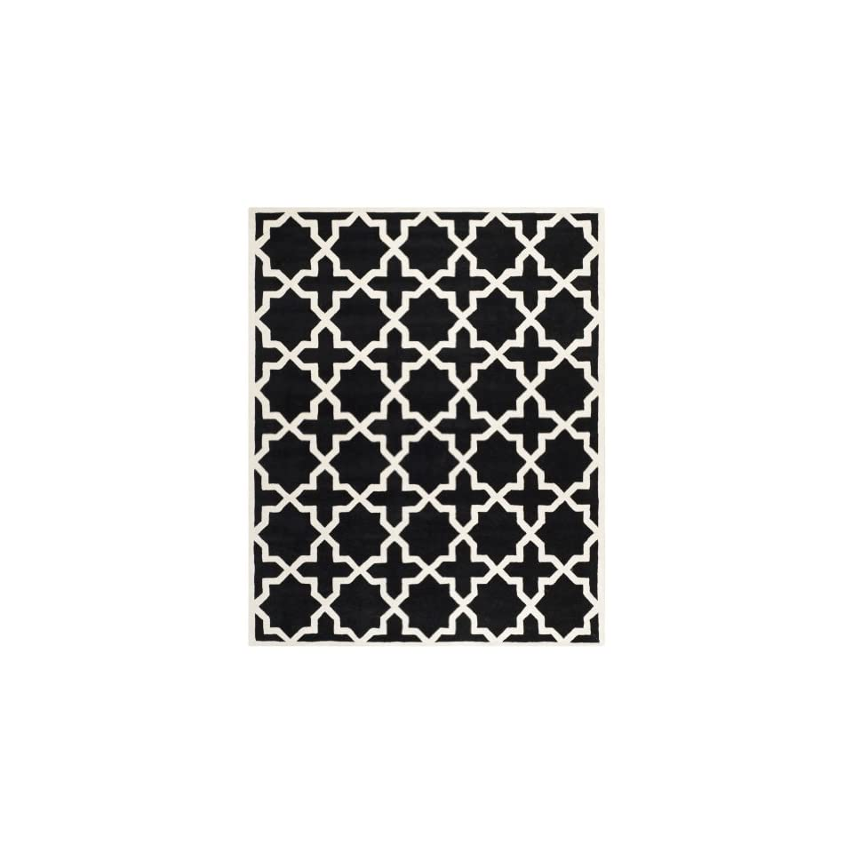 Safavieh Chatham Collection CHT732K Handmade Black and Ivory Premium Wool Area Rug (89 x 12)