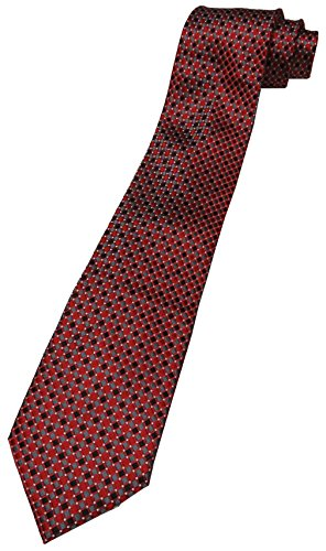 Donald Trump Signature Collection Neck Tie Red, Black and Silver with Gold - Collection Trump Signature