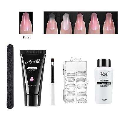 Amazon.com: Poly Nail Gel Starter Kit, Poly Nail Gel Master Tool Kit ...