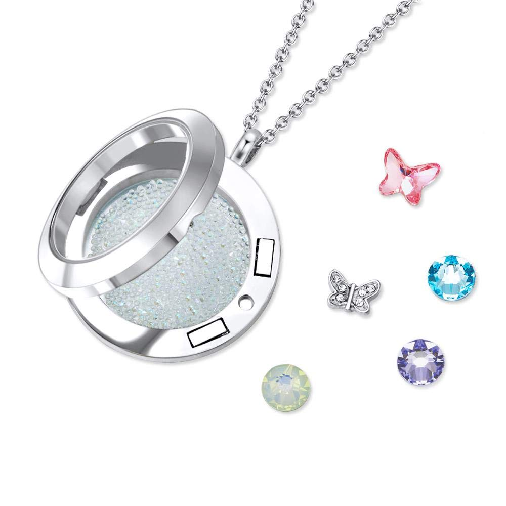 8639b5aa9 Mestige Jewellery Butterfly Abode Floating Charm Necklace with Swarovski®  Crystals: Amazon.com.au: Fashion
