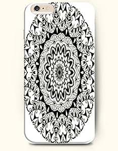 SevenArc Apple iPhone 6 Plus 5.5' 5.5 Inches Case Moroccan Pattern ( Black Emerald Doodle )