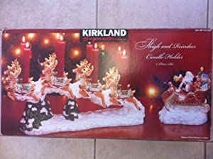Amazon Com Kirkland Santa Sleigh And Reindeer Candle