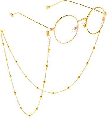 Amazon.com: EZIO 14K Gold Plated Eyeglass Chain for Women Pearl Beaded  Reading Eyewear Retainer Sunglass Strap Holder Chain for Girl Men Fashion  Christmas New Year Gift for Her: Jewelry