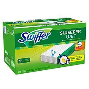 Swiffer Sweeper Wet Mopping Pad Refills for Floor Mop with Febreze Sweet Citrus & Zest Scent 36 Count (Packof 2)