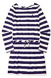 Ralph Lauren Girls Striped Cotton Jersey Dress (2/2T, College Purple/cream)