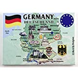 "Germany EU Series Souvenir Fridge Magnet 2.5"" X 3.5"""