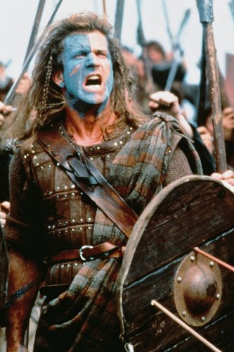 mel gibson braveheart battle cry 24x36 poster at amazon s