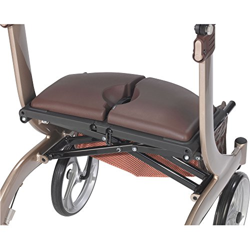 Drive Medical Nitro DLX Euro Style Walker Rollator, Champagne by Drive Medical (Image #3)