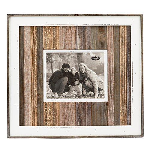 "Mud Pie 4695343 Wood Plank Dimensional Photo Frame 8"" X 10"