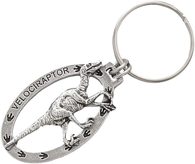 Stegosaurus Keyring Beautiful Pewter Dinosaur Keychain